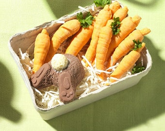 Chocolate Bunny And Carrots