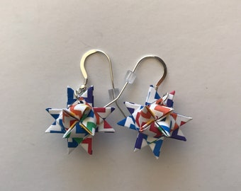 Moravian Star Earrings—ZigZag Pattern