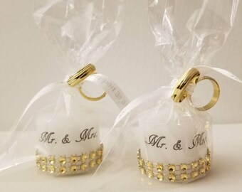Mr. and Mrs. Votive Candles (Set of 12)
