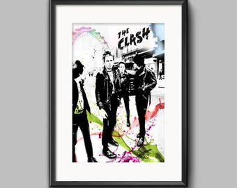 The Clash Original Wall Art Print / Poster Original Design A3, A2, A1, A0