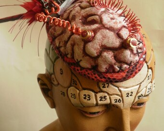 Verrückte Wissenschaft Gehirn Fascinator. Steampunk.