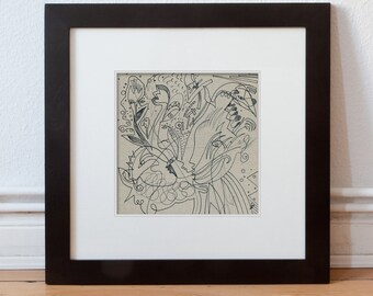 Drawing (original image) 20/20 cm (7,87/7,87 inch)