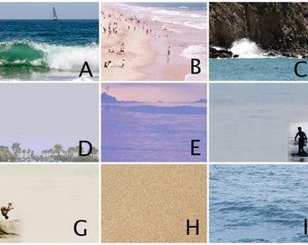 Choose Your Sand and Surf Design - Magnet Board - Dry Erase Board - Magnetic Memo Board - Framed Message Board - Bulletin Board - Mgnts incl