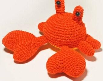 Crochet Stuffed Crab Toy/Decoration