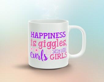 Happiness Is Giggles Curls ... 11oz Coffee Mug