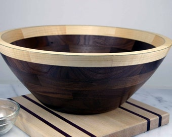 Walnut-Maple Salad Bowl / 12""