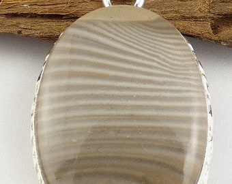 NATURAL GREY STRIPED flint, heart pendant, fossil, Poland, natural stone, jew31.2 diamond