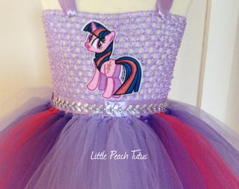 Twighlight Sparkle InspiredTutu Dress