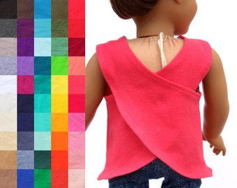 Fits like American Girl Doll Clothes - Cross Back Athletic Tank Top, You Choose Color   18 Inch Doll Clothes