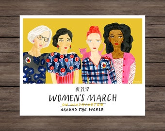Women's March on Washington Art Print