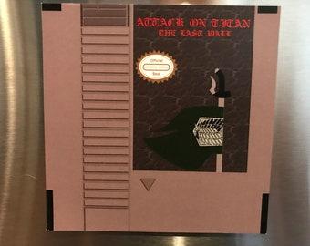 Attack on Titan Nintendo NES Magnet