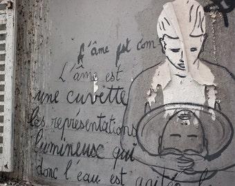 "Paris Photography, ""Montmartre Graffiti"" Paris Print, Large Art Print Fine Art Photography, Surreal Art, College Student Gift, Inspirational"