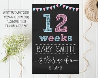 Weekly pregnancy sign, Weekly pregnancy chalkboard, Bi-Weekly pregnancy sign, Chalkboard pregnancy sign, Baby bump photo sign
