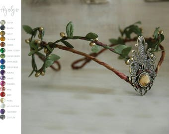 Woodland elf tiara - elven headpiece - fairy crown- statement jewelry