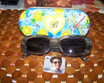 """Vintage Pair of Brighton """"Smoke Gets IN your Eyes"""" Hand Made Designer Sunglasses"""