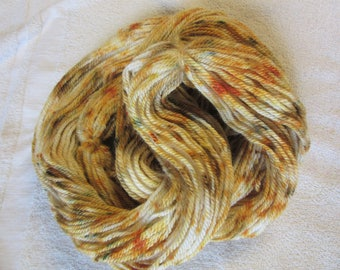 "100% Alpaca -Speckle Dyed by Hand ""Midas Touch""  - 3 Ply Worsted Weight Yarn - 200 Yds - 9-11 WPI"