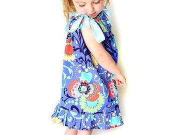 Girls Pillowcase Dress w. Ruffles Sewing Pattern