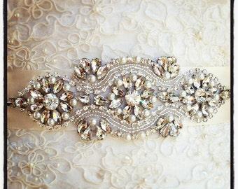 Crystal Wedding Sash, Wedding Sash, Bridal Belt, Bridal Sash, Crystal Sash, Crystal Belt, Beaded Sash, Rhinestone Sash, Sash
