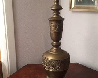 Mid-Century Modern James Mont Style ASIAN Brass Lamp Hollywood Regency