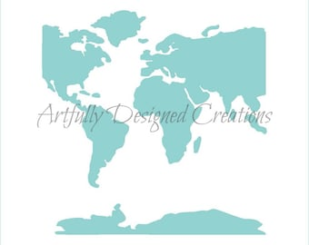 World map stencil etsy world map stencil map background stencil world map cookie stencil gumiabroncs Gallery