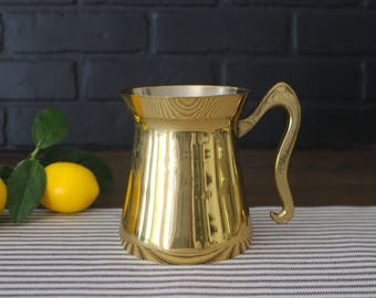 Brass Frothing Pitcher . Coffee Bar Decor . Coffee Lover . Barista Gift . Modern Farmhouse Kitchen Decor . Fixer Upper . Latte Cappuccino