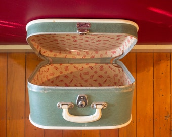 Green Square Vintage Suitcase