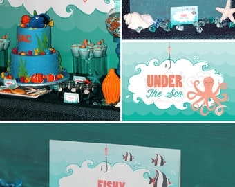 DIY Printable Birthday Party Package - Under the Sea