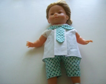 clothes for dolls from 36 cm, with vanilla (blouse, shorts or Capri pants)
