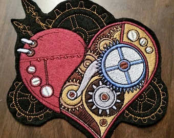 Steampunk Heart Patch