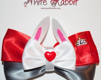 White Rabbit Hair Bow