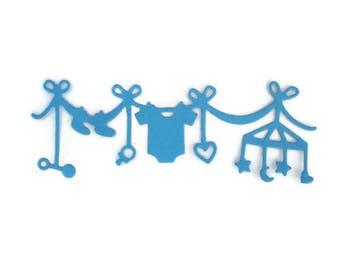 Baby Themed Miniature Garland Die Cut Set of 12