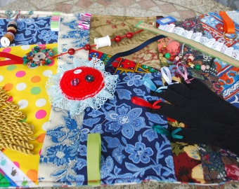 Fidget Quilt for Dementia, Alzheimer's and others.Busy blanket/activity blanket