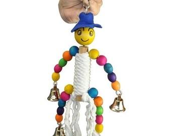1053 Happy Rope Man Bird Toy