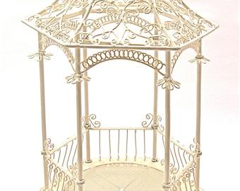 Miniature Fairy Garden Gazebo with Bench for Terrarium, Fairy or Mini Garden