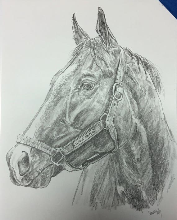 Classic Empire Original Graphite Pencil Horse Racing Art Derby