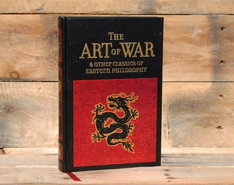 Hollow Book Safe - The Art of War - Black Leather Bound