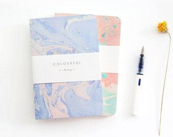 Watercolor Minimalist Notebook, Pastel Color Notebook, Minimalist Journal, Minimal Travelers Journal, College Notebook,Cute Notebook Journal