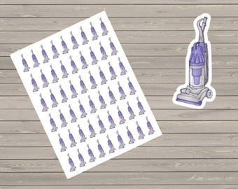 54 Small Vacuum Stickers Cute Planner Stickers Fits Erin Condren  Happy Planner Filofax Kikkik Plum Paper
