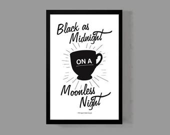 TV Movie Poster - Coffee Quote Print - David Lynch Dale Cooper Laura Palmer Cult Classic 90's