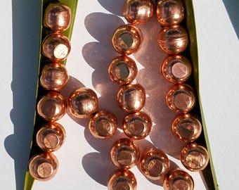 """Mini Copper Orb Sphere - 1/2"""" Solid Native Pure Ore from Michigan"""