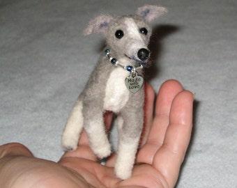 Needle Felted Dog /Custom Miniature Sculpture of your pet Cute