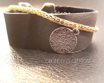 Bracelet wide leather