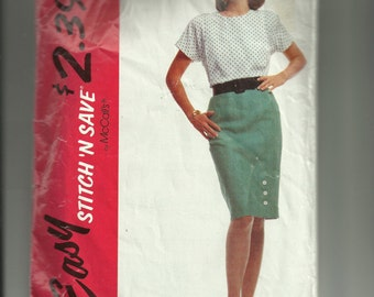 McCall's Misses' Blouse and Skirt Pattern 5344