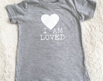 I Am Loved toddler tee