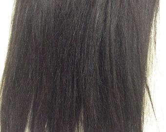"Darkest brown (2)  100% human hair clip in extensions   14""  18""  20"""