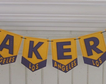Lakers Pennant Banner