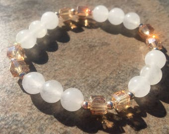 White Jade and crystal