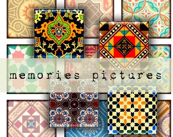 Oriental ornaments historical fabric patterns - instant  Digital Collage Sheet, Download and Print Jpeg Clip Art Images 129