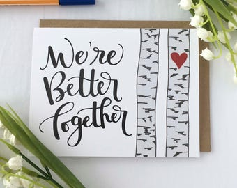 Anniversary Cards for Boyfriend, Anniversary Card Wife, Card for Husband, Anniversary Card for Him, Valentines Day Card, Card for Girlfriend