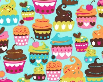 Cupcake Fabric, Fabric for Girls, Cotton Fabric By The Yard, Sewing Material, Designer Fabric, Michael Miller Fabric, 1 Yard Fabric, Quilts